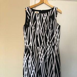 Talbots Dress, black and white size 12